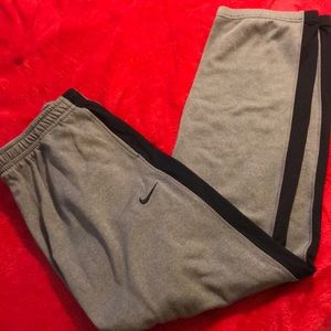 Size Large Gray and Black Nike Sweatpants!